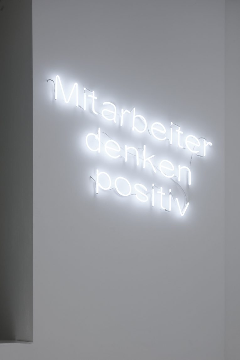 Delphine Reist @ Pasquart Kunsthaus, Biel  Employees think positively