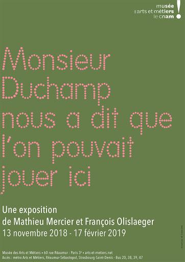 Mathieu Mercier @ Musée Art et Métier, ParisMonsieur Duchamp nous a dit que l'on pouvait jouer ici